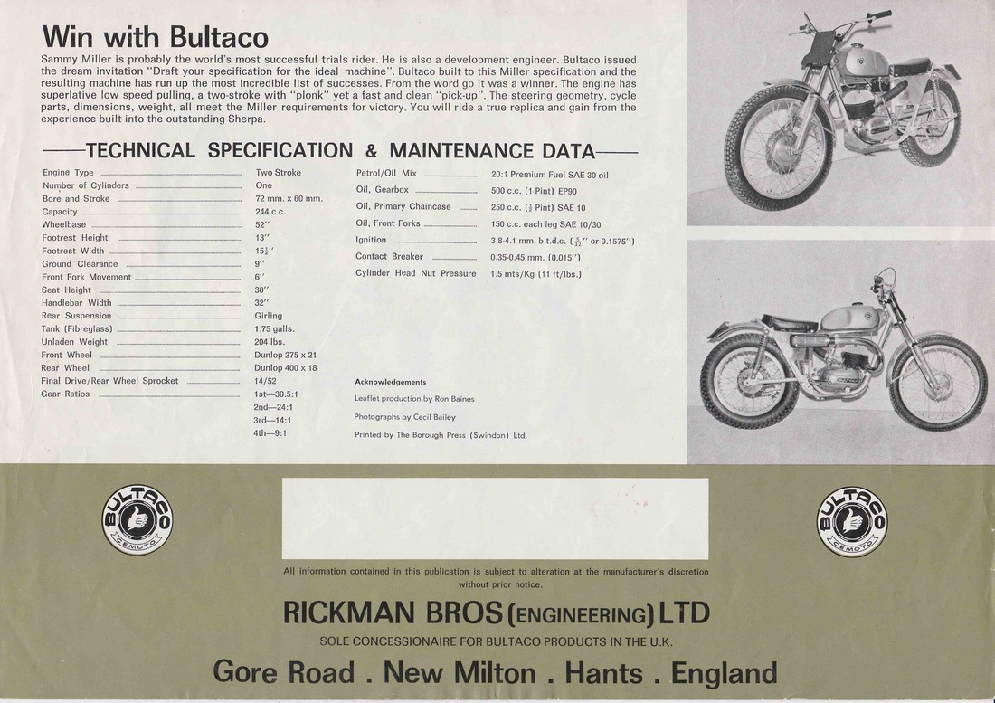 7 The actual first Sammy Miller Bultaco that changed the sport