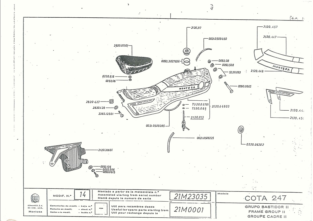 1970 Montesa Cota 250 full parts manual